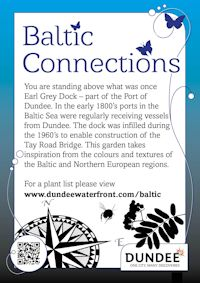 Baltic Connections sign