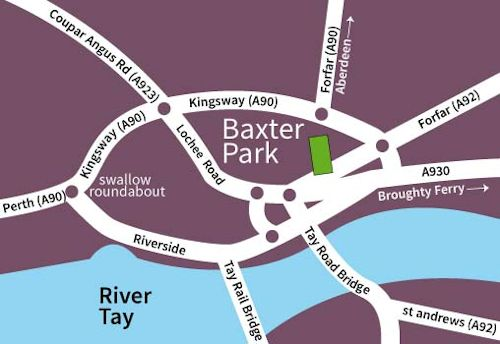 Baxter Park map
