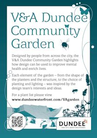V&A Community Garden sign