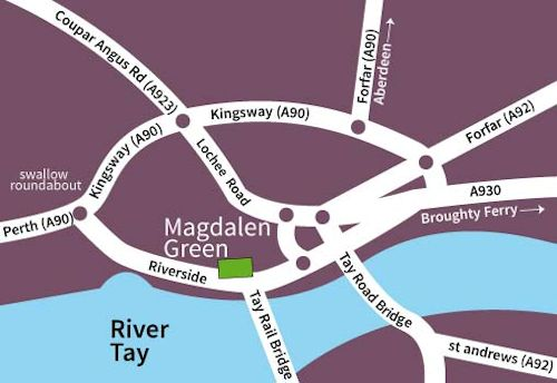 Magdalen Green map