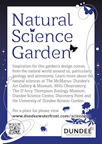 Natural Science Garden sign