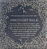 Discovery Walk Plaque