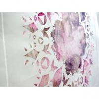 Watercolour Monoprinting plus Chine-colle Image