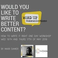 Word Up Communications - Content Writing Workshop Image