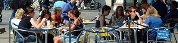 Photo of people sitting in a cafe
