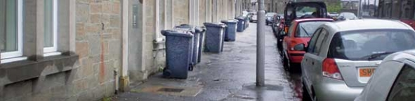 Photo of wheelie bins on the street