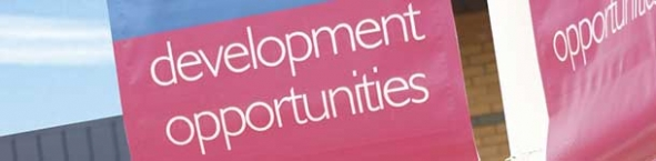 Development opportunities banner