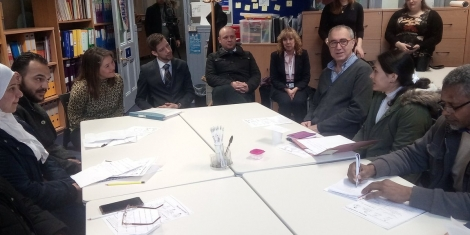 Cabinet secretary visits adult learners project Image