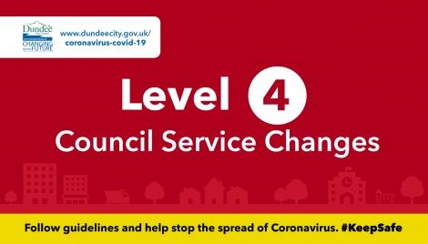 Level 4 council service changes Image