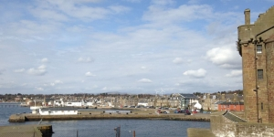 Broughty Ferry flood protection active travel works Image