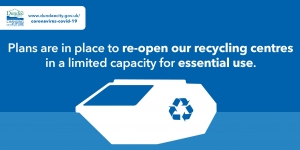 Recycling centres to re-open but with restricted capacity Image