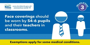 New Face Coverings Guidance for Senior Pupils and their Teachers Image