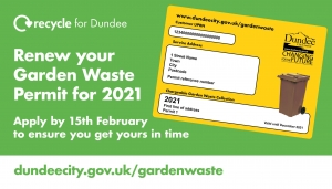 2021 Garden Waste Permit reminder Image