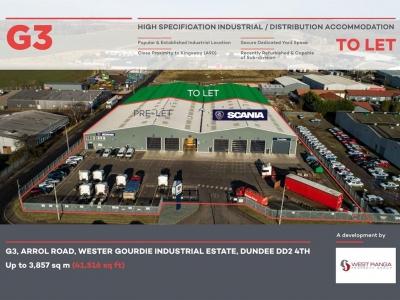 Industrial Unit, G3 Arrol Road<br/>Wester Gourdie Industrial Estate<br/>Dundee<br/>DD2 4TH<br/>Wester Gourdie Industrial Estate<br/> Image
