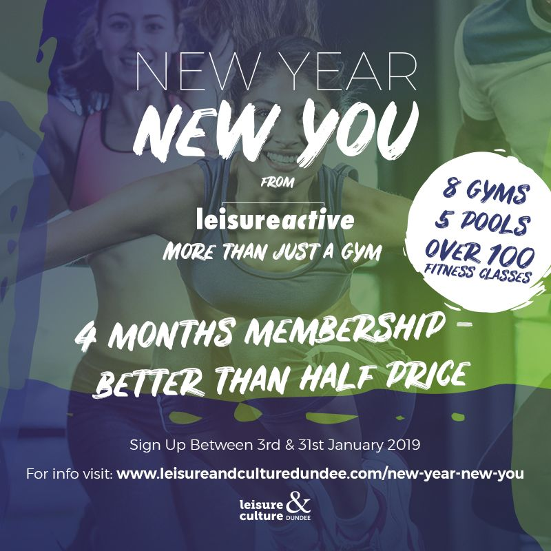New Year New You @ Leisure and Culture Dundee Venues Image