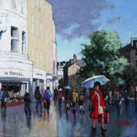 Lady in Red Art Exhibition Image