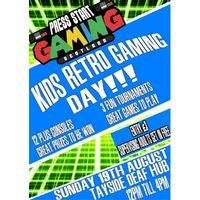 Kids Retro Gaming Day Image